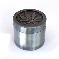 Top Qualität Metall Grinder 4 Schichten Günstige Tabakkräutermühlen Magentic Schleifer mit Pollen Catcher Scraper graue Farbe