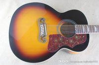 최고의 가격 도매 최고 품질 솔리드 톱 12 문자열 햇살 컬러 어쿠스틱 기타