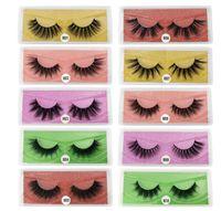 Nuevo Llegada 3D Pestañas de visón Grueso Real Mink Pelo Falso Palezas Ojo Lajas Maquillaje Extensión Falso Pestañas 10 estilos