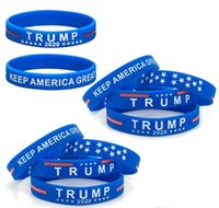 Donald Trump 2020 Silikon-Armband Keep America Große Armband Us General Election Bangle Soft-Sport Band 2 Styles wrhome XqkaF
