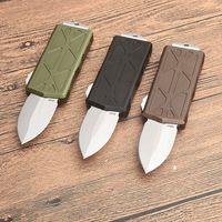 Top qualità mini Piccolo Auto lama tattica D2 doppio bordo Spear Point raso CNC della lama 6061-T6 Maniglia EDC coltelli con scatola al minuto