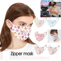 Zipper Mask Creative Zipper Face Mask 6 Colors Zipper Design Easy to Drink Washable Reusable Covering Protective Face Masks CCA12389 300pcs
