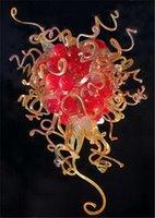 Italia Diseñado 100% hecho a mano soplado del vidrio del arte lámpara de cristal bombillas LED de ahorro de energía Chihuly estilo Murano Colgante