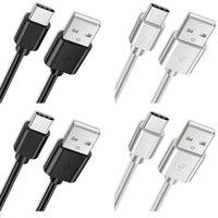 1m 1,5 m 2m 3m Cable de carga rápido 2A Tipo de velocidad rápida C Cables Micro USB para Samsung Galaxy S8 S9 S10 HTC LG