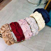 Взрывное Soild Цветого Hairbands Марка Простой широкополого оголовье Luxury Head Wrap для девочек Свадебных Патей Горячих продаж