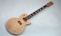 أنصاف ستة سلسلة مجموعات الغيتار الكهربائي والغيتار DIY، 2PCS okoume + الجسم القيقب، الفريتس خشب الورد والعنق okume
