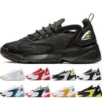 Zoom M2K Tekno zapatillas deportivas para mujer para hombre Triple Negro azul real Lobo Gris Negro Volt negro blanco fiebre del rosa zapatillas de deporte zapatos para caminar