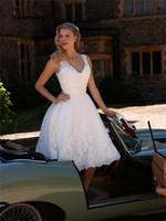 2021 Vestido de Nooiva Curn Line Белое кружевное короткое свадебное платье на заказ Beach Wedding платья короткая свадебное платье