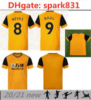 20 21 New NEVES RAUL Soccer Jersey 2020 2021 ADAMA DIOGO J. COADY NETO PODENCE DOHERTY BOLY J.MOUTINHO home yellow Football shirt