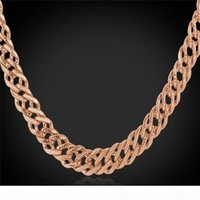 Classic Gold Chain 18K Stamp Women Men Jewelry Gold Rose Gold Platinum Plated Fashion Chain Necklace