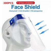 300pcs / lot Plastik Erwachsene Kinder Vollgesichtsschutz Gesichtsschutzschild Anti-Fog Klarsichtfolie aus Kunststoff Gesicht und Augen schützen Shields Fy8017
