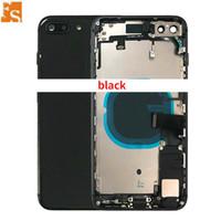 20pcs Tam Konut Flex Kablo Parçaları Meclis ile IPhone 8 8 Artı Geri Orta Çerçeve Şasi Pil Kapı Arka Kapak Body