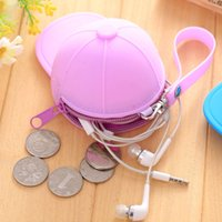 New Cute Silicone Hats Coin Purses Candy color Wallets Baseb...