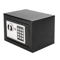 미니 디지털 전자 안전 상자 키패드 잠금 보안 홈 호텔 총 귀중품 안전 스틸 미국 주식