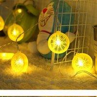 Moda levou luz seqüência de verão da bateria sala de frutas decoração corda caixa de luz de limão Fatia do coração de menina tira 321 levou