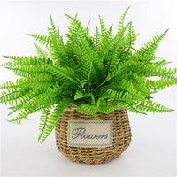 Simulação Grama Artificial Folha Fern Pérsia Flor falsificação falso plantas verdes Interiores Acessórios decoração de mesa