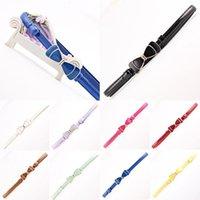 Borboleta Mulheres Nova Moda Bow bowknot Buckle Cintura elástica larga estiramento cinto para as Mulheres Vestido Acessórios 10 cores