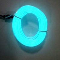 3M interior del coche tira de luz LED de 12V de las luces frías de neón flexible del alambre del EL luces auto línea de tira de decoración de interiores Tiras lámpara NZSL #