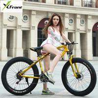 Nouvelle Marque Snow Beach Bike Carbon Cadre en acier 4,0 Largeur des pneus 27 pouces Vitesse 20/24/26 roue Sports de plein air Mountain VTT Vélo