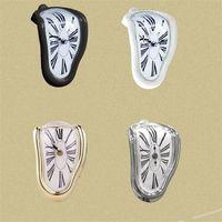 Roman Figurki Zegary Plastikowe Okrągłe Watch Watch Zegar ścienny Retro Gięcie Bell Hotel Display Table Corner Decoration 18wy C2