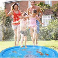نفخ رذاذ المياه ترقية حصيرة الصيف في الهواء الطلق اللعب في الهواء الطلق لعبة لعبة حصيرة الخوض في بركة سبلاش وسادة للأطفال بنين بنات