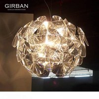 Modern Laser Apple Chandelier Acrylic Transparent Chandelier...