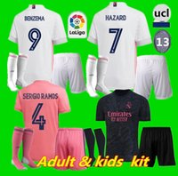 enfants adultes kit 20 21 Real Madrid Football kits Jersey 2020 2021 SERGIO RAMOS RISQUE JOVIC VINICIUS BENZEMA MODRIC football chemises enfant UNIFOR
