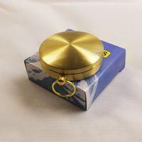 Miedziany drut kompas koło zegarek kieszonkowy kompasy z okładką liny pierścień noc światła prezent okrągły wskaźnik 10 5cd c2