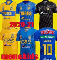 men kids 2020 2021 UANL Tigres GIGNAC Soccer Jerseys kits 19...
