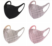 Maskeler Anti Toz Ekose Respiratörü Güneş kremi Yetişkin Moda Nefes Yıkanabilir Gazlı bez Yeniden kullanılabilir Çift Süet Elyaf Ağız Maskeleri LSK364 Maske