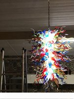 Cina moderne di stile Living Room Hotel Lobby Villa Sala mano decorativi soffiato cristalli di Murano Glass Chandelier a catena Lampada a sospensione a LED
