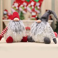 Sin 30cm Cara de Santa Claus muñeca de Navidad Año Nuevo regalo de Navidad Decoración para el hogar felpa LJJK2389 regalo del favor de partido