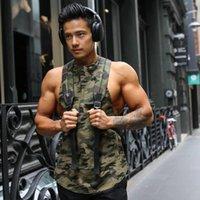 Compressione muscolare degli uomini di estate di nuovo allentato maglia degli uomini di sport Canotta Gym Fitness Top Running Training Camouflage Quick Dry Vest