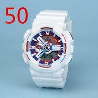 Высокое качество бренд мужской каучуковый ремешок LED Многофункциональные наручные часы Содержит коробка и инструкция по эксплуатации Водонепроницаемая могут плавать GA # 41-50