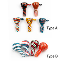 Popular Glass Bowl 14 mm 18 mm Male Joint Colorful wig wag b...