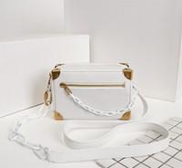 Alta Qualidade Fashion Designer de luxo Bolsas bolsas MINI SOFT TRONCO caixa de corrente clássico do estilo Bag Mulheres Marca de couro genuíno Bolsas de Ombro