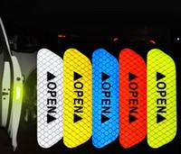 4шт / Lot двери автомобиля Открытой Anti-Collision Светоотражающие наклейки ленты заметности безопасности Предупреждение Предупреждение Наклейка для автомобиля Грузовой автомобиль Прицеп