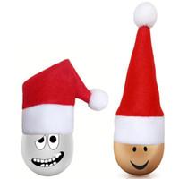 Chapéu de Santa Mini Natal bolso Fork Faca Faqueiro Titular 2020 Chegada Nova Decorações de Natal DDA310
