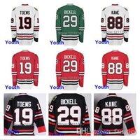 Buz Hokeyi Gençlik Chicago Blackhawks Jersey # 19 Jonathan Toews # 29 Bryan Bickell # 88 Patrick Kane Formalar Çocuklar Çocuk Çocuk