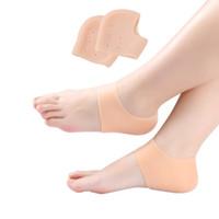 Trattamento del piede Calzini del tallone del silicone Sebs Idratante Gel Socks Cracked Skin Care Protector Piedi Massaggiatore Piedi Proteggi il coperchio