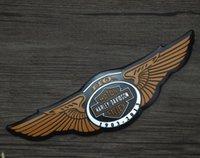 Harley motosiklet Kafatası Nakış Yamalar Giyim Çıkartma Aplike Çiçek Gül-İskelet Demir-On Metal gövde çıkartmaları 18-6.5cm5 modifiye