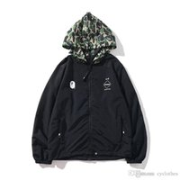Autumn Winter Teenager Green Camo Double Zipper Polyester Wi...