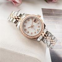 Movimento delle donne di modo superiore diamante della vigilanza desige fuori ghiacciato orologi in acciaio inossidabile Automatico Orologi Meccanici 26 millimetri regalo signora vigilanza