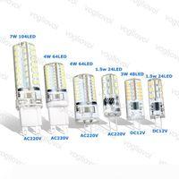 LED Bulbs G9 G4 1.5W 3W 4W 7W DC12V AC220V Corn Led Light Silicone Lamps For Crystal Chandelier Pendant Lamps Spotlight Bulbs EUB