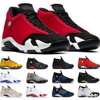 농구 신발 Jumpman (14) 14S 체육관 레드 블랙 레드 지팡이 사탕 발가락 레드 남성 운동화 스포츠 운동화 크기 7-13