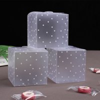 10pc PVC trasparente Cup Cake Box Cupcake Packaging display Pvc regalo Base All'interno della festa nuziale di Natale Box con la confezione