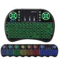 RII I8 retroillo remoto tastiera a remota mini tastiera con touchpad retroilluminazione wireless controllo per Android Smart TV Box MXQ M8S X96 T95 X92 HTPC PS3