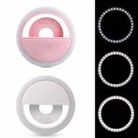 LED الصور الشخصية للضوء لفون XR XS 8 7 حلقة ضوء فلاش الكاميرا مصباح الصور الشخصية للحلقة ضوء التصوير للحصول على سامسونج في صندوق