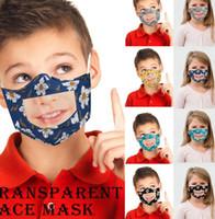 الأطفال قناع الوجه مع اضحة وشفافة نافذة المرئية قراءة الشفاه قناع الوجه أقنعة الاطفال زهرة الحيوانات الأليفة LJJK2390