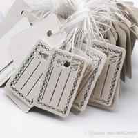 1000pcs Livraison gratuite en gros 27 * 16mm White Label Argent Tie chaîne Prix affichage Balises, affichage de bijoux